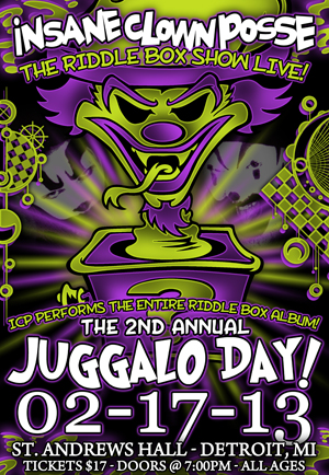 ICP's Juggalo Day (Riddle Box Show edition) - Detroit, MI