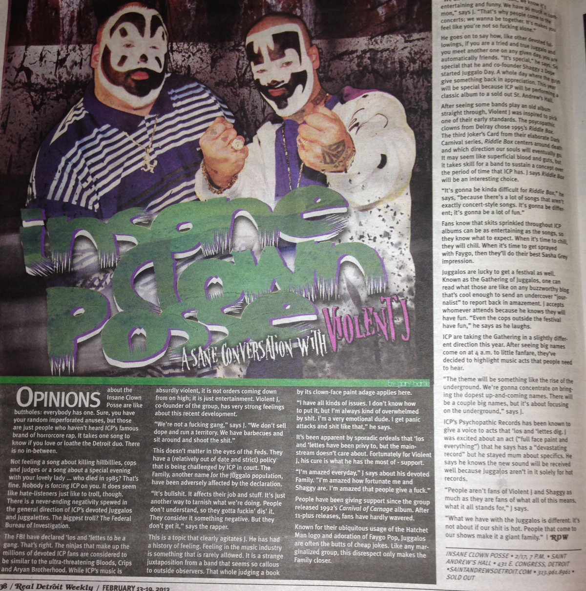 Icp Albums And Songs List Cool icp interviewed about fbi, the gathering, new artist in latest