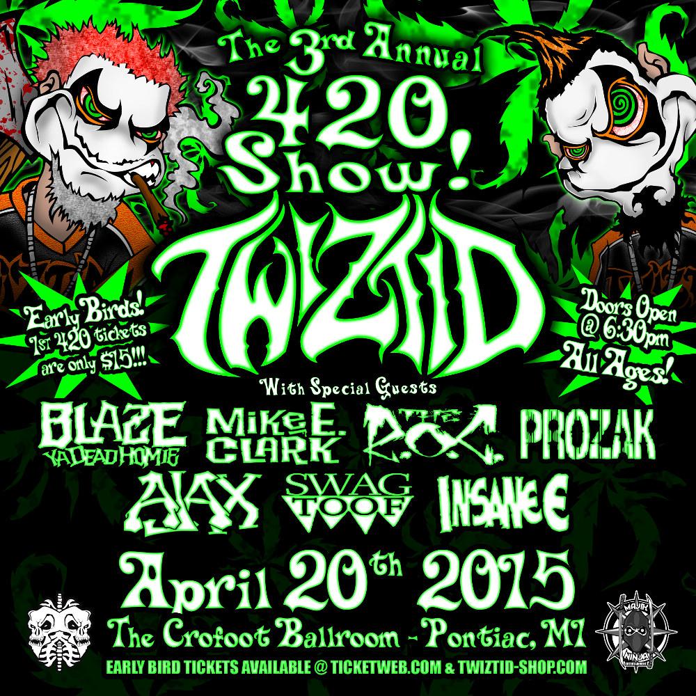 Twiztid S 3rd Annual 420 Show Pontiac Mi Faygoluvers