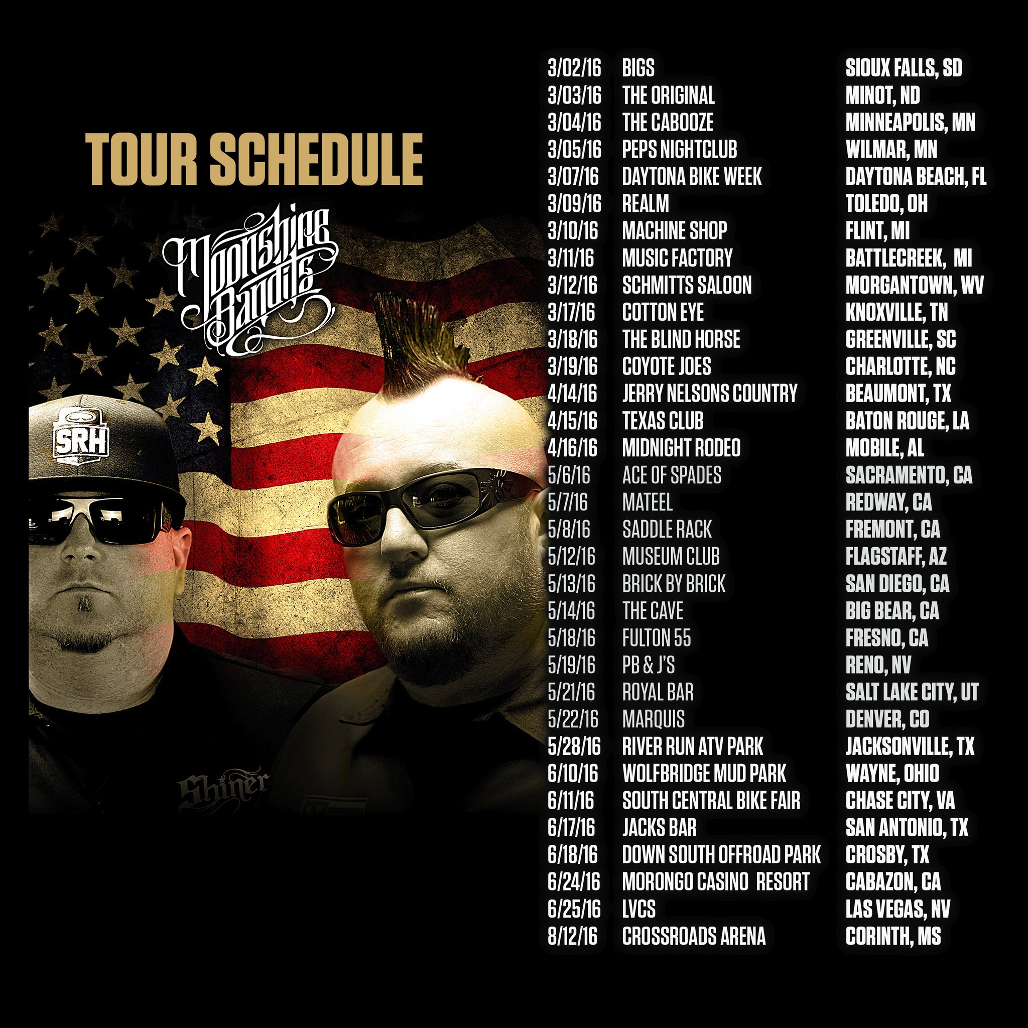 Moonshine Bandits Tour Dates