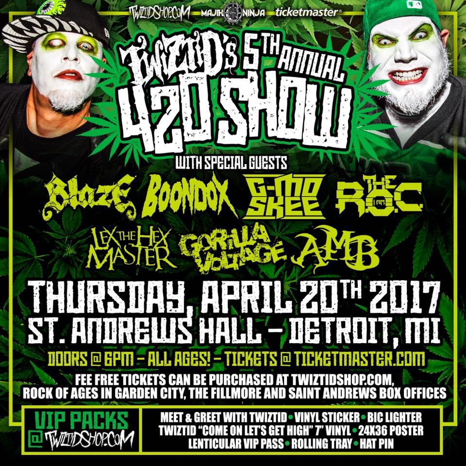 Twiztid's 5th Annual 420 Concert - Detroit, MI
