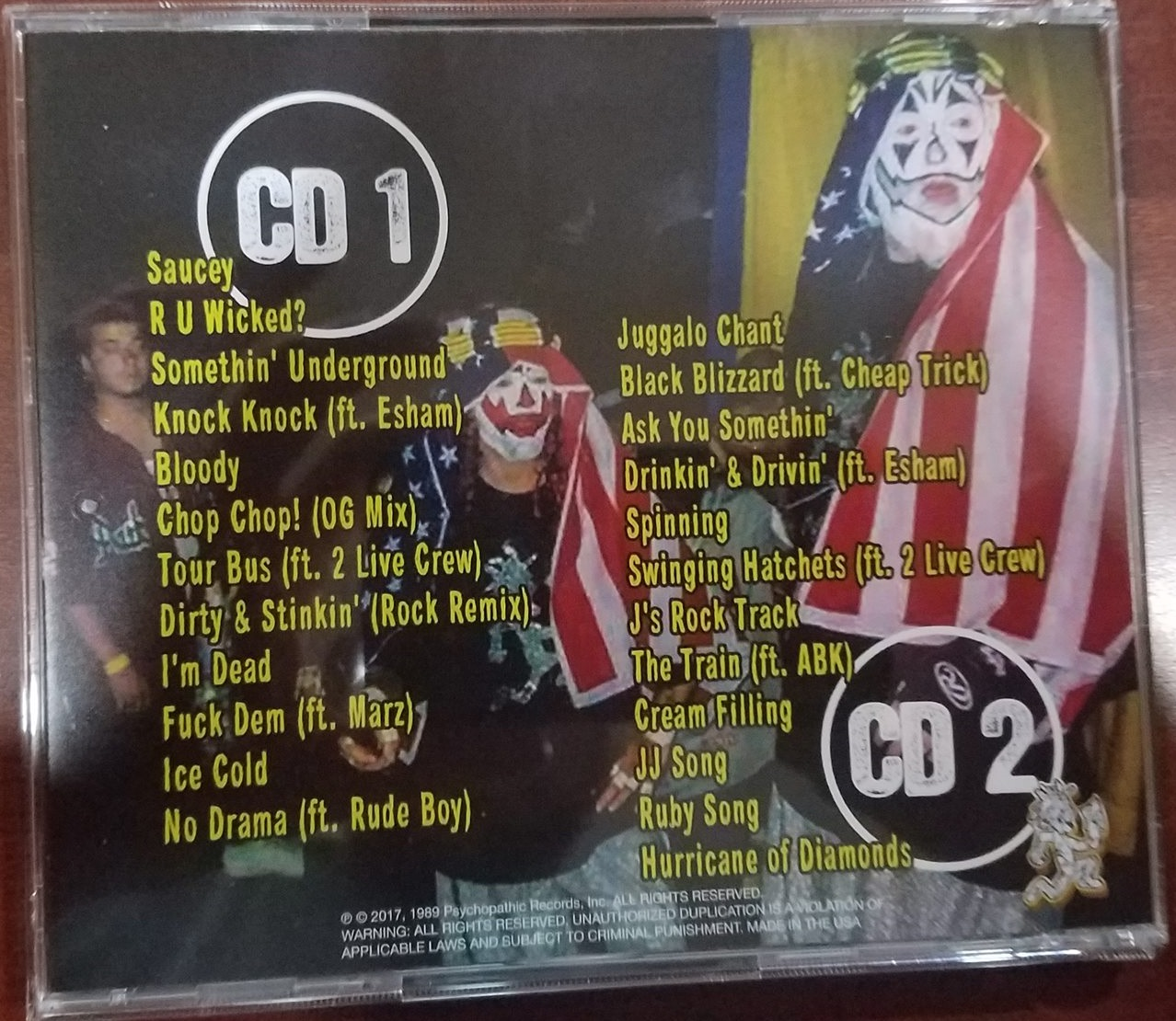 "Icp Albums And Songs List Awesome icp releases ""incredible collectible collection (worthy of an"