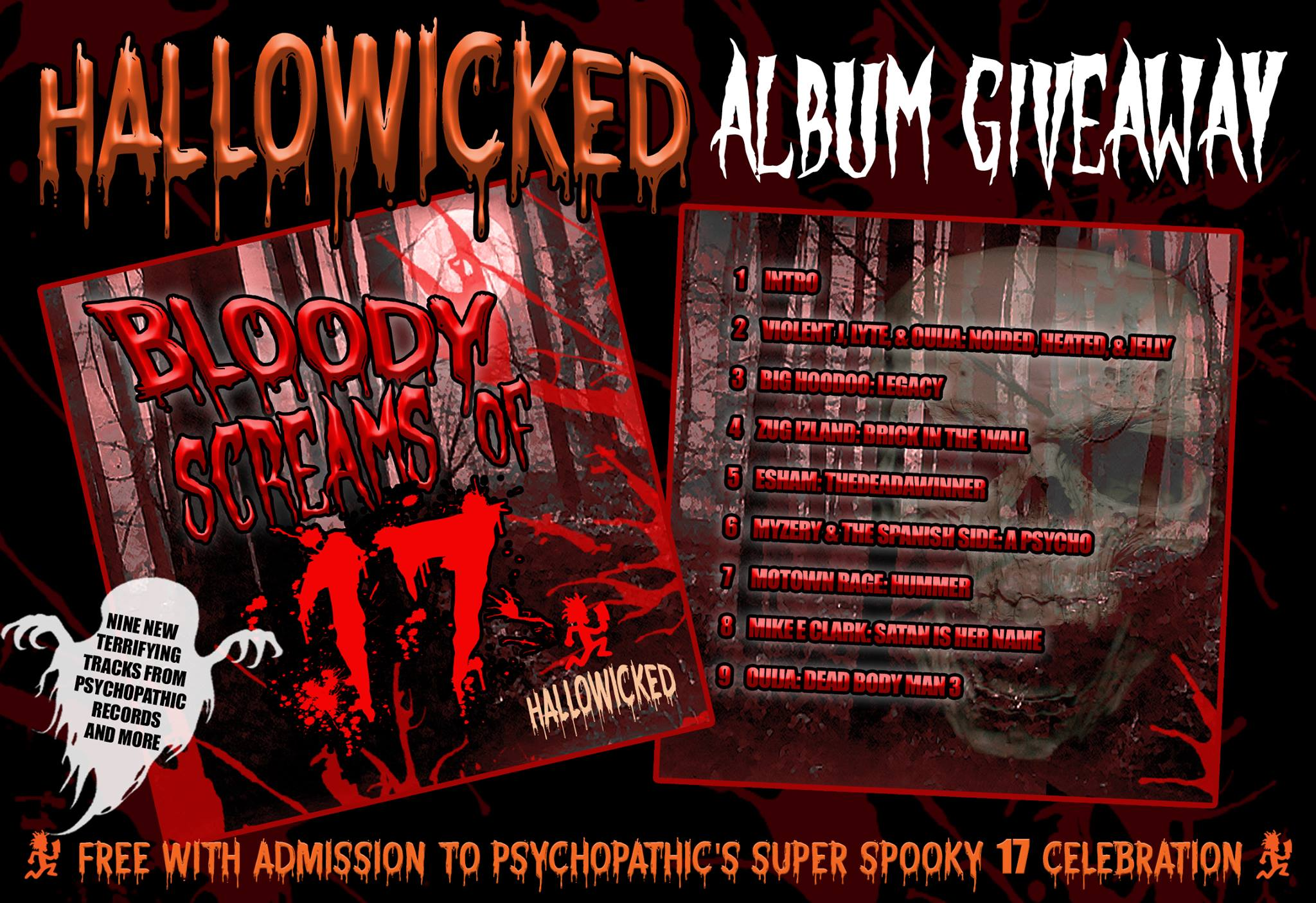 Icp Albums And Songs List Classy hallowicked 2017 album giveaway (9 tracks for free!) | faygoluvers