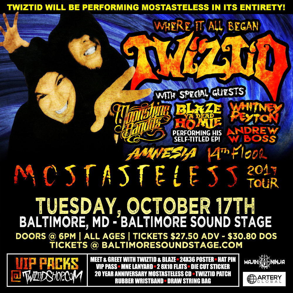 Twiztid s mostasteless tour baltimore md faygoluvers for 17th floor concert schedule