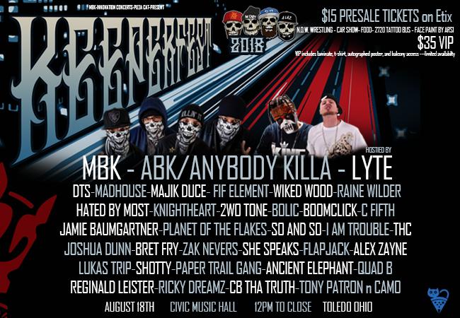 keeperfest 2018 lineup announced featuring anybody killa lyte my