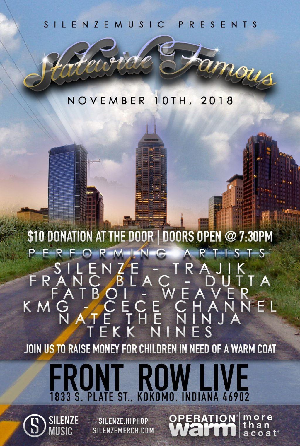 Silenze Music Presents: Statewide Famous [Charity Event] - Kokomo, IN