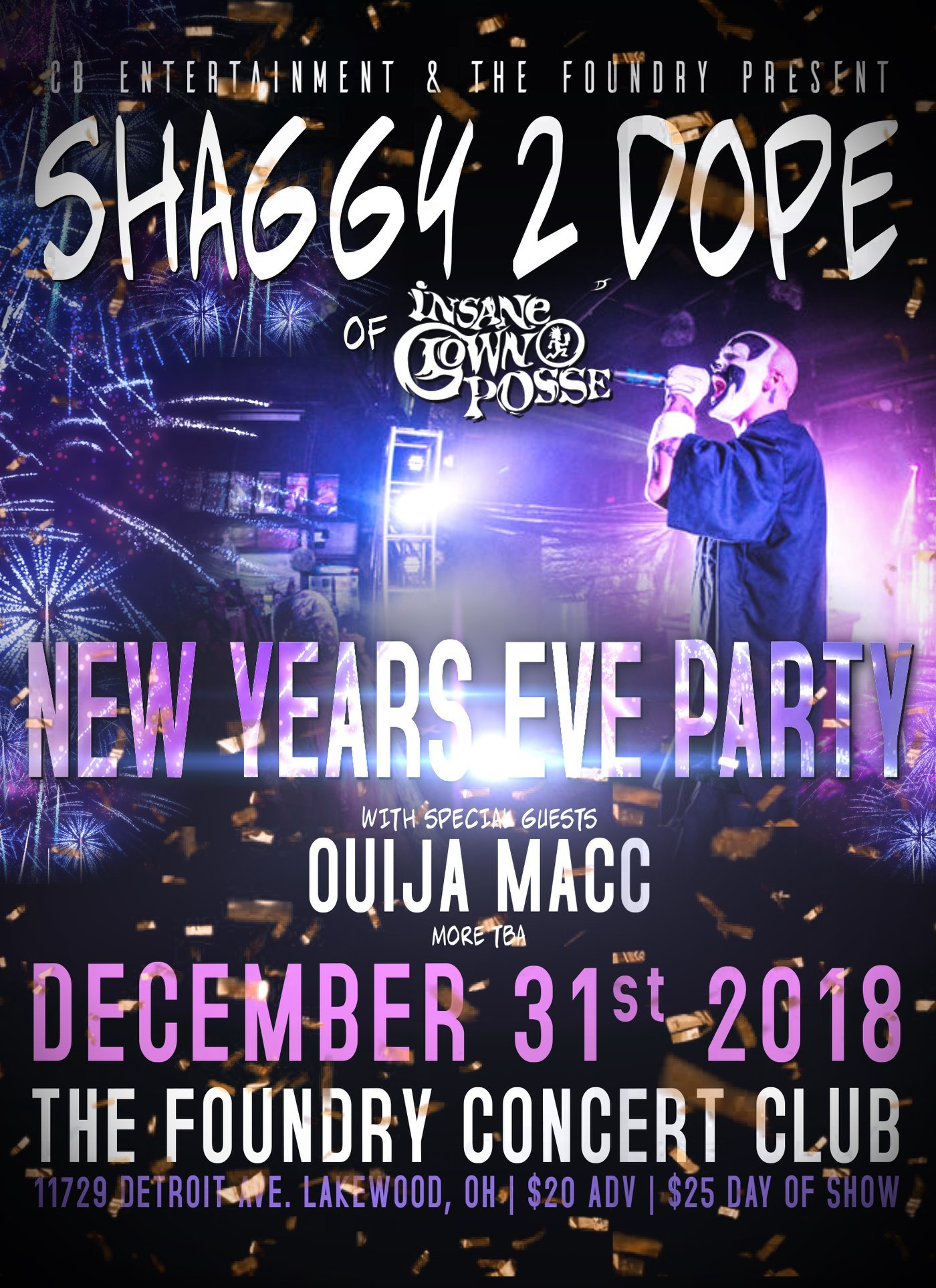 4763c31c9a79b3 New Year s Eve Show in Cleveland Announced With Shaggy 2 Dope