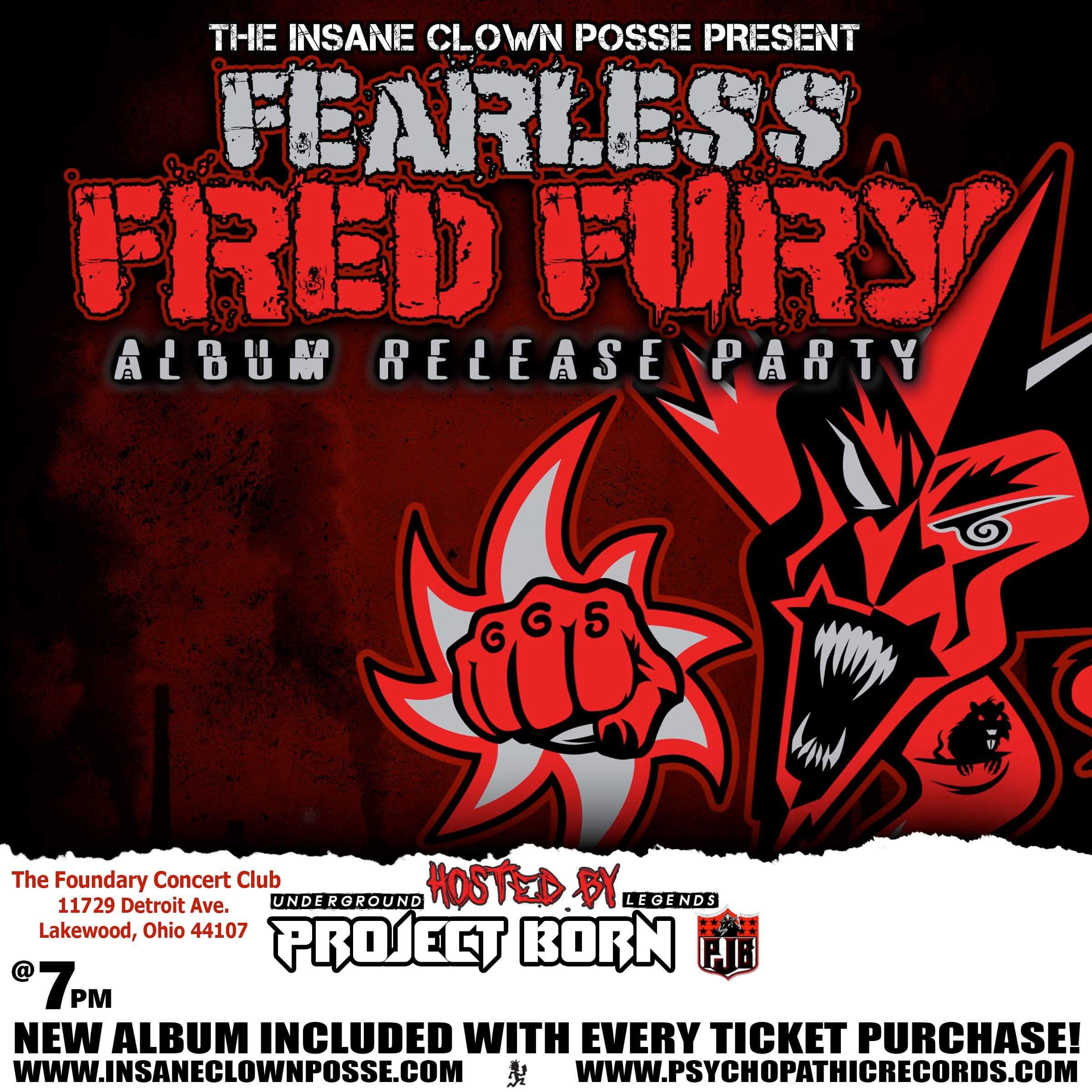 Fearless Fred Fury Album Release Party (ft. Project Born) - Lakewood, Ohio