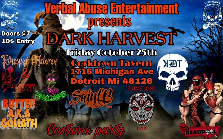 Verbal Abuse Entertainment presents: Dark Harvest - Detroit, MI