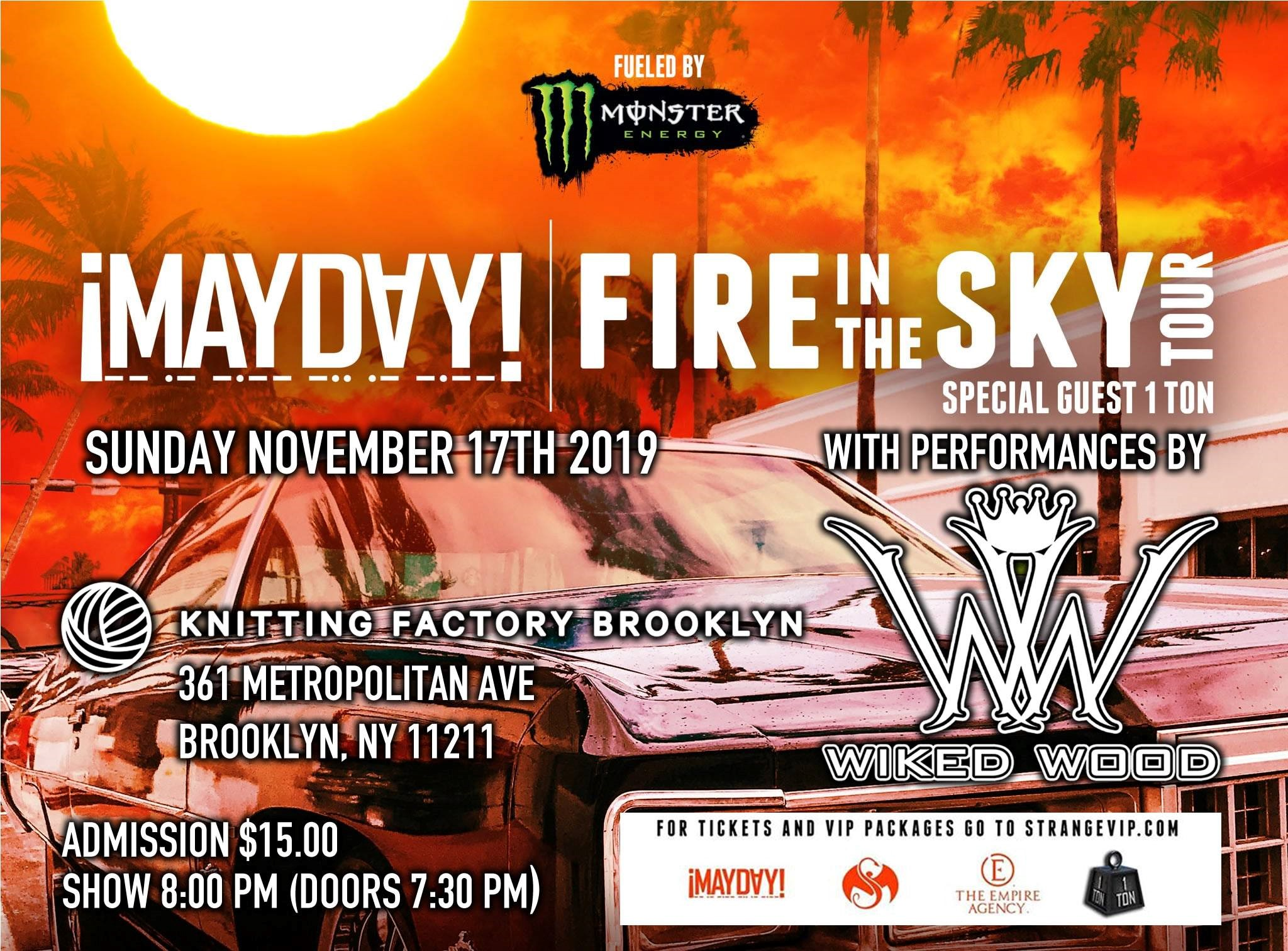 """Mayday's """"Fire In The Sky"""" Tour - Brooklyn, NY"""