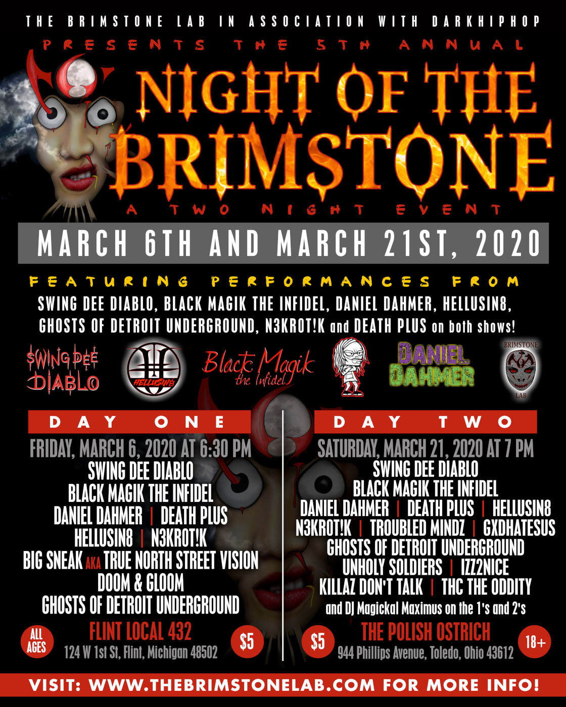 Night Of The Brimstone: Night Two - Toledo, OH