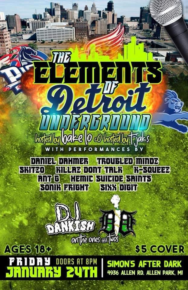 The Elements Of Detroit Underground - Allen Park, MI