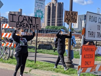 I Can't Breathe and Black Lives Matter Signs