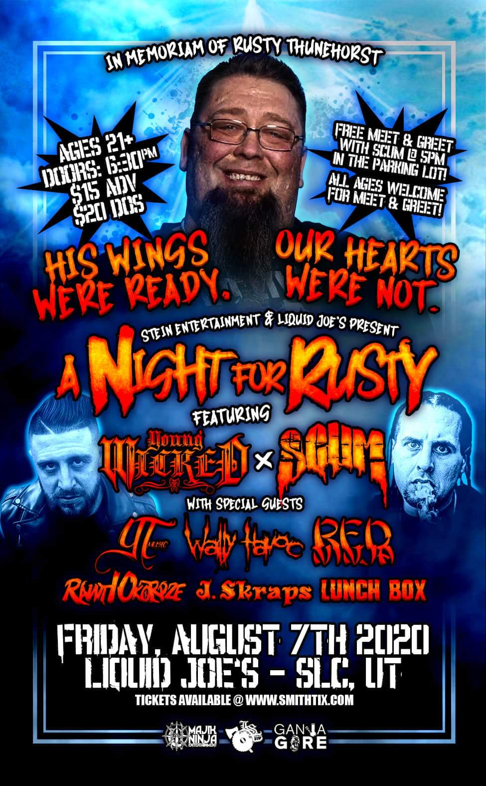 A Night For Rusty (ft. Young Wicked, SCUM, more) - Salt Lake City, UT